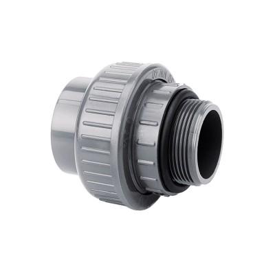 "PVC Übergangsverschraubung Klebemuffe / Außengewinde Ø50 mm x 1 1/2"""