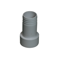Druckschlauchtülle grau 1 1/2 Zoll x 45mm