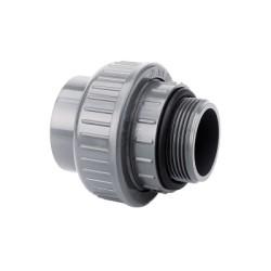 PVC Übergangsverschraubung Klebemuffe / Außengewinde Ø50 mm x 1 1/2