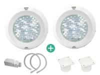 IQ LED Scheinwerferset 2 weiß mit Trafo und Kabelanschlussdose
