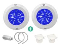 IQ LED Scheinwerferset 2 RGB mit Trafo und Kabelanschlussdose