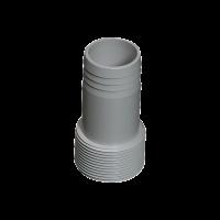 Druckschlauchtülle grau 50 x 45mm Klebeanschluss